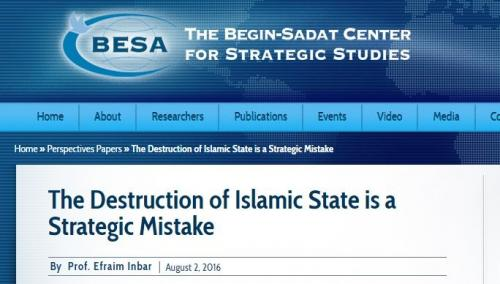 "A policy paper published by an influential Israeli think tank which contracts with NATO argues that ISIS is a ""useful tool"" for Israel's strategic defense."